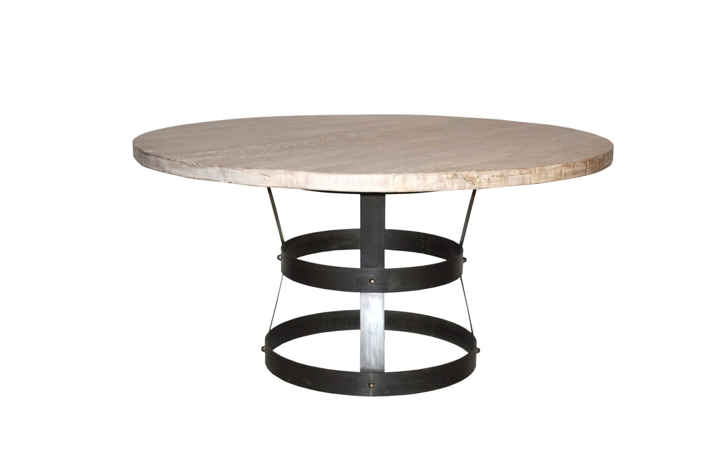 """Picture of """"BASKET"""" DINING TABLE, RL TOP, 60"""""""